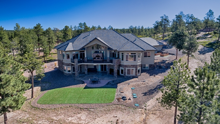 Aerial Rear of Property