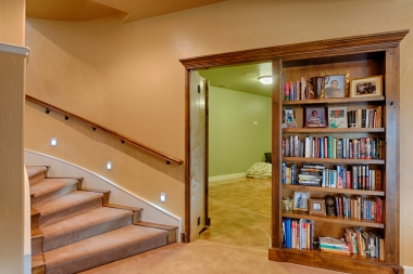 Basement Bookshelf Reveal